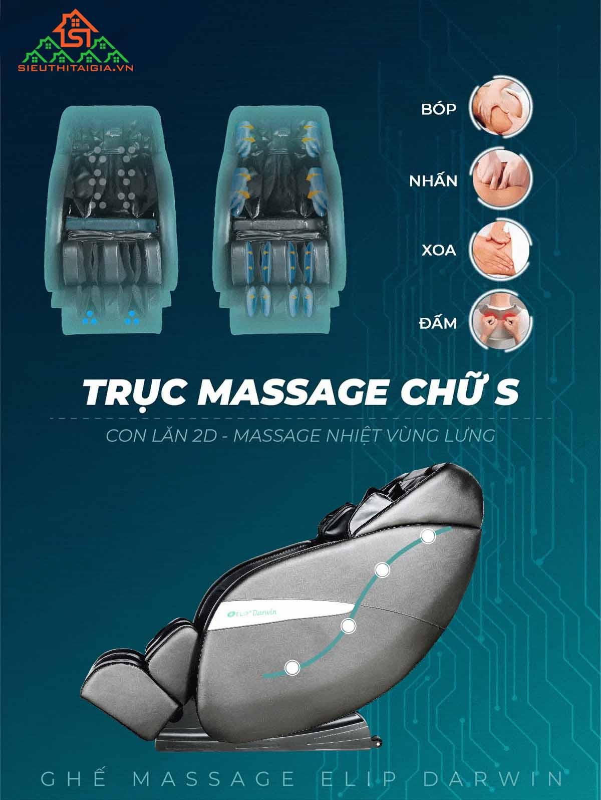 Ghế massage ELIP Darwin