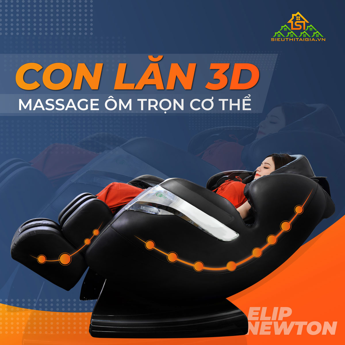 Thiet ke con lan cua Ghe massage Elip Newton