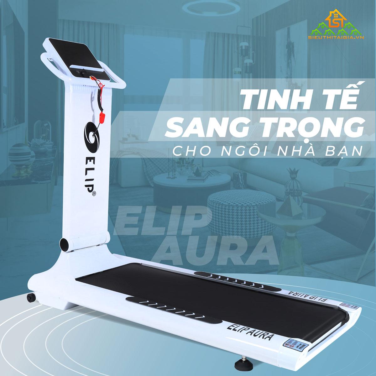 Máy chạy bộ điện Elip Aura