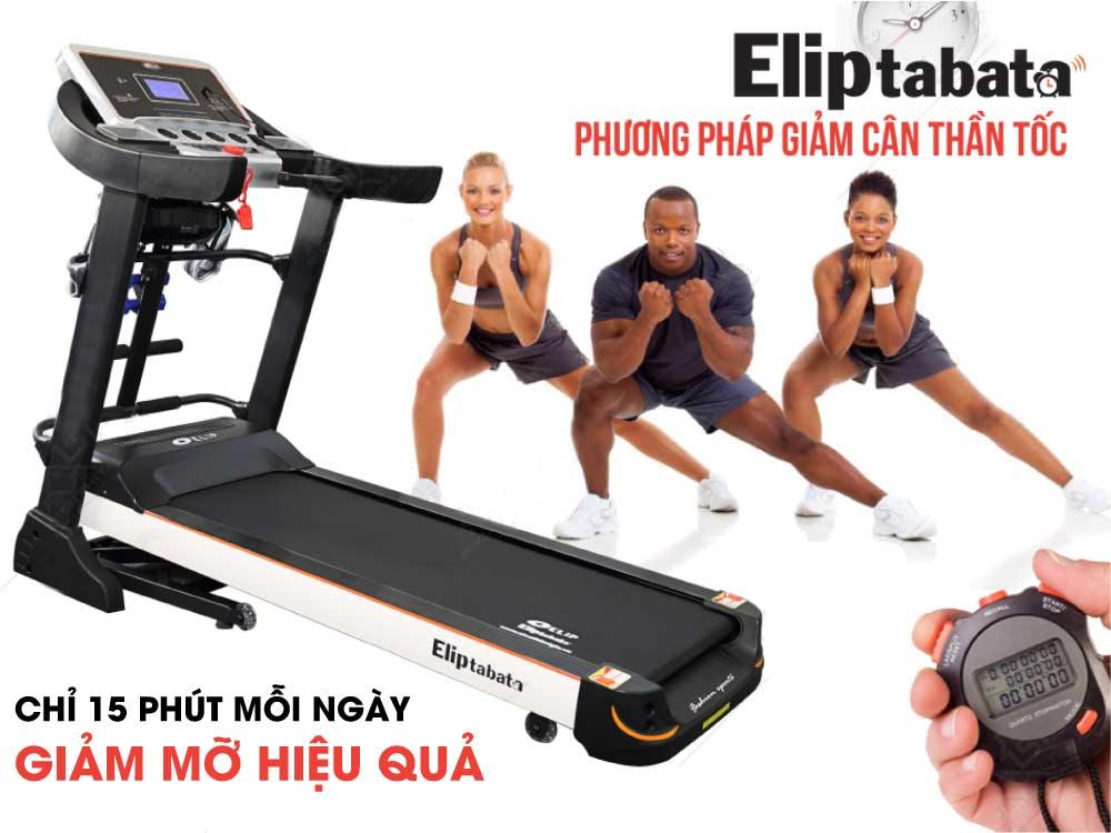 giảm cân hiệu quả với Máy chạy bộ điện Elip Tabata