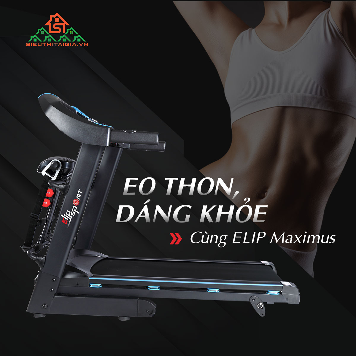 Máy chạy bộ điệnElip Maximus