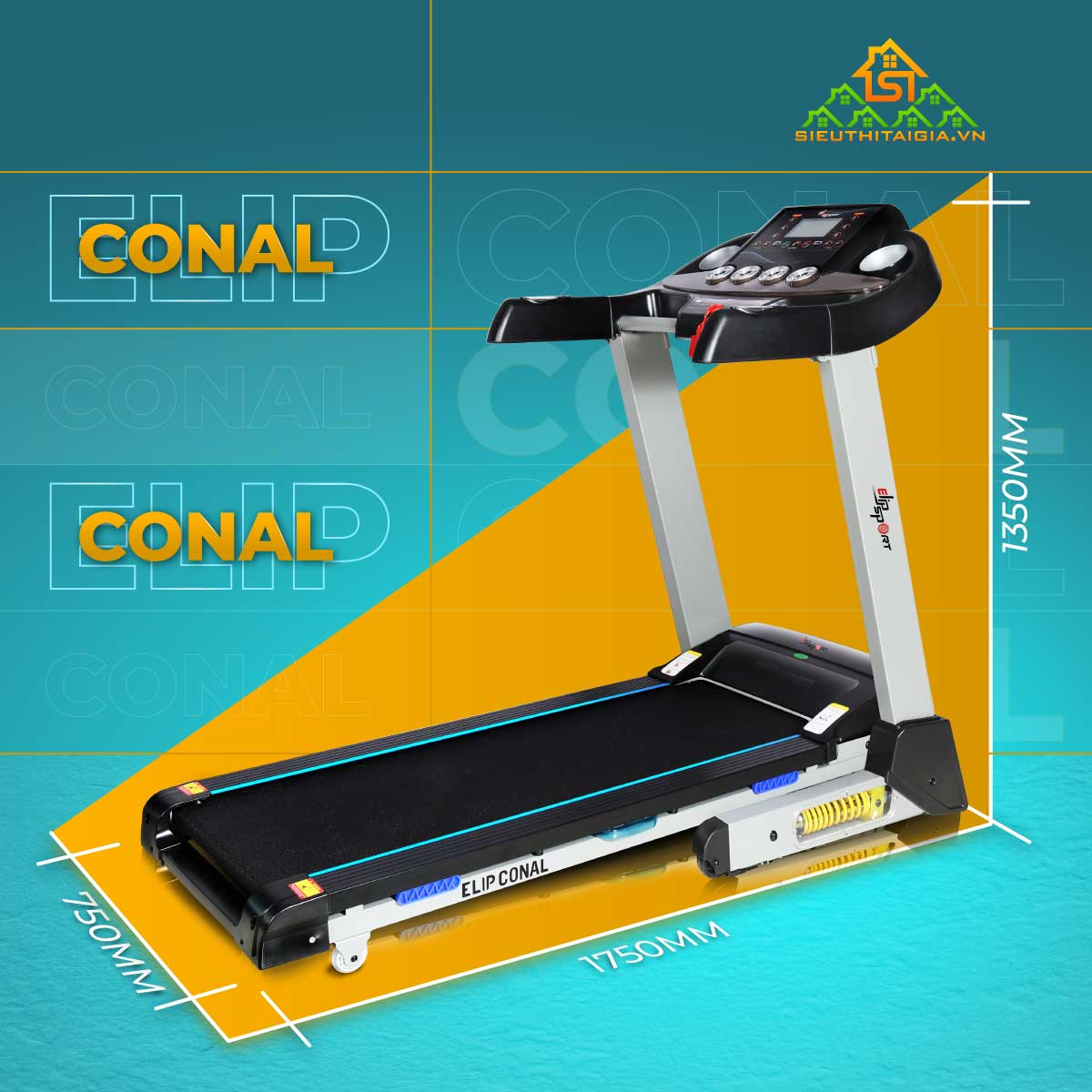 Máy chạy bộ đơn năng ELIP Conal