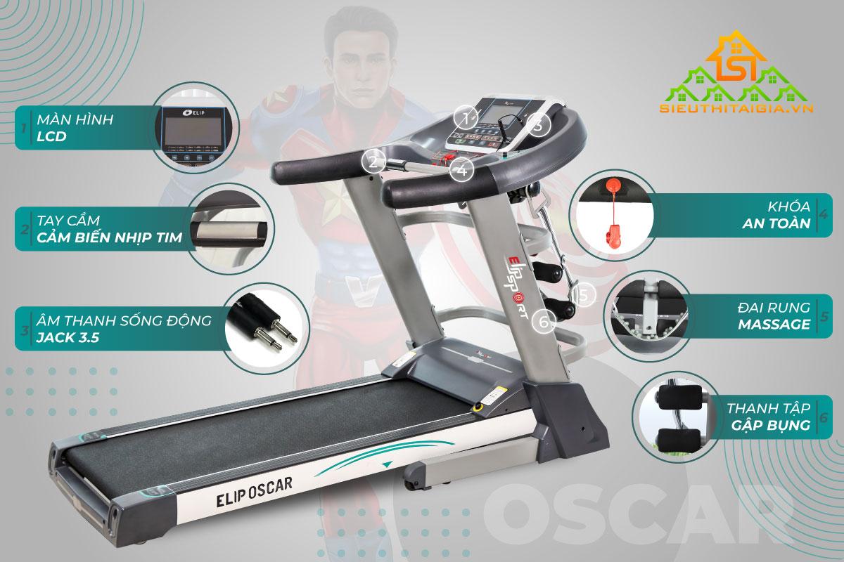 Máy chạy bộ ELIP Oscar