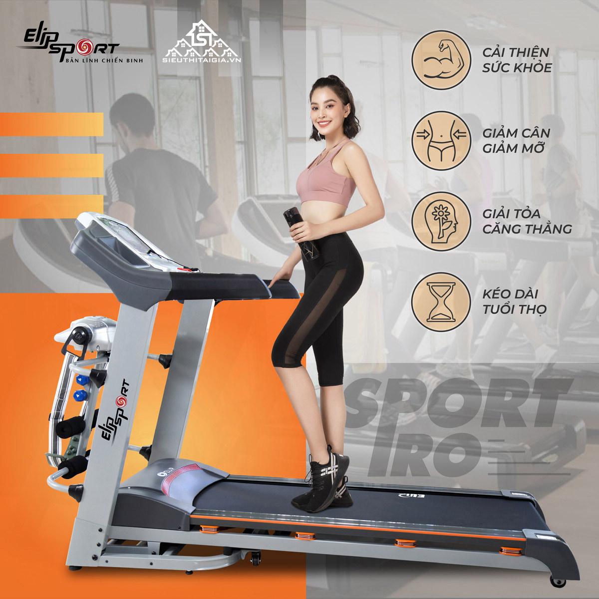 máy chạy bộ điện Elip Sport