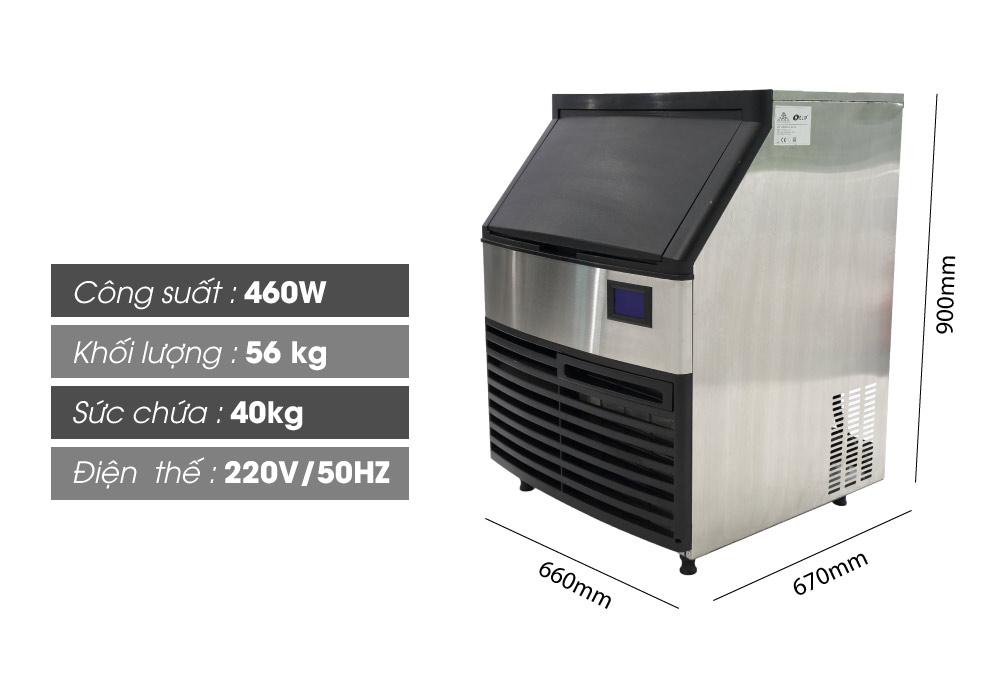 Thông số máy làm đá Elip VeniceE-70