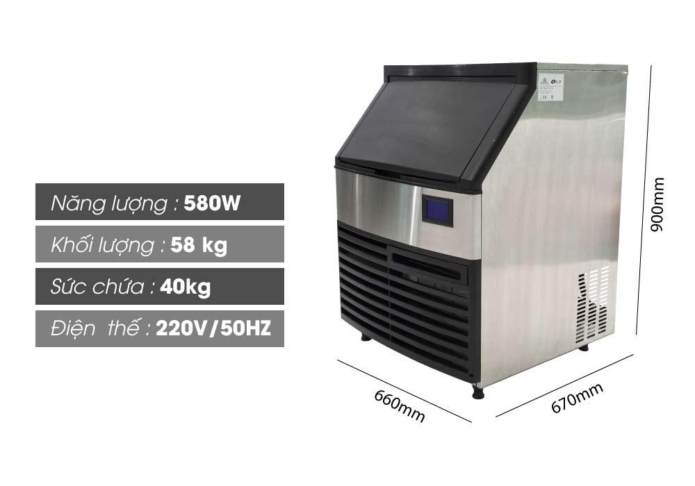 thông số máy làm đá Elip VeniceE-120