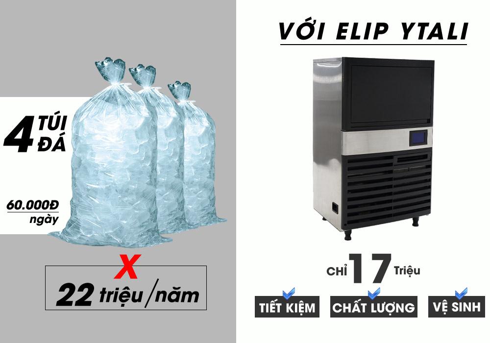 công suất máy làm đá Elip Ytali E-40