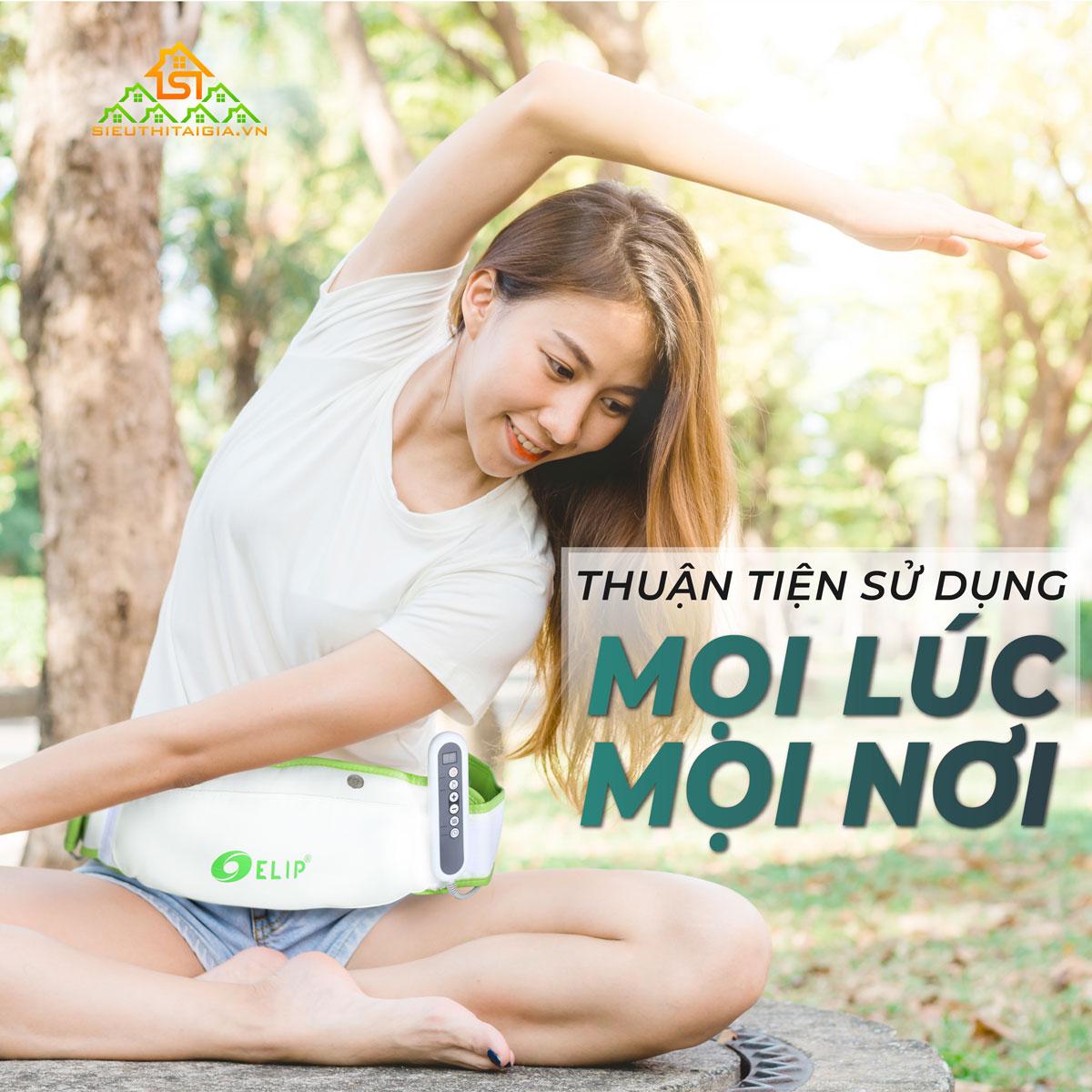 Đai massage bụng Elip Eva