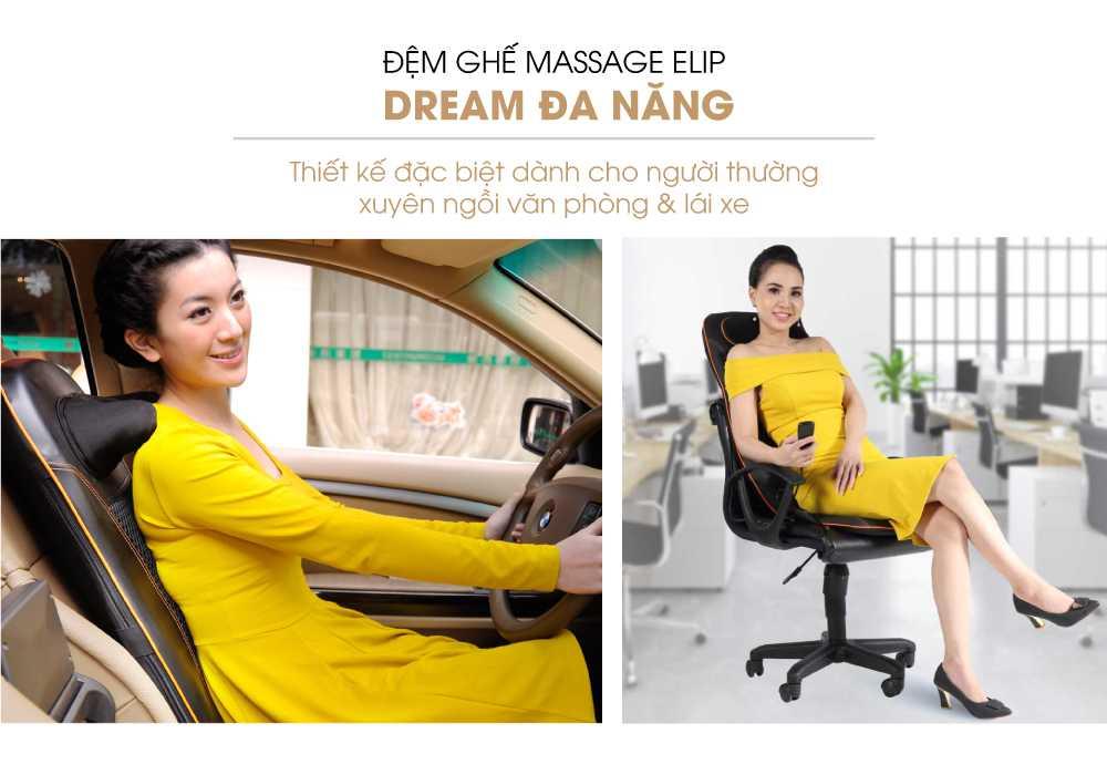 Đệm Ghế Massage Elip - Dream Đa Năng - ảnh 1