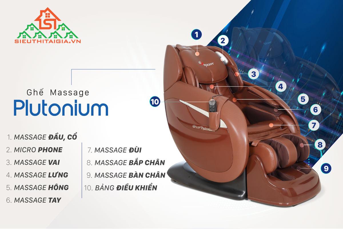 Ghế massage ELIP Plutonium