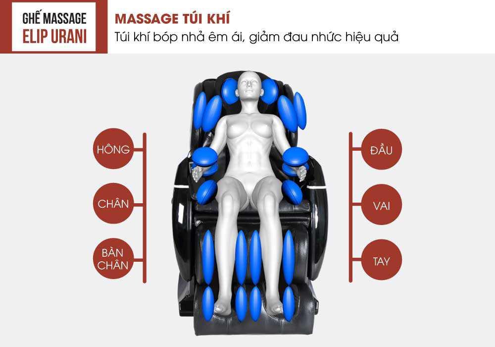 Massage khong trong luc cung Ghe mat xa Elip Urani