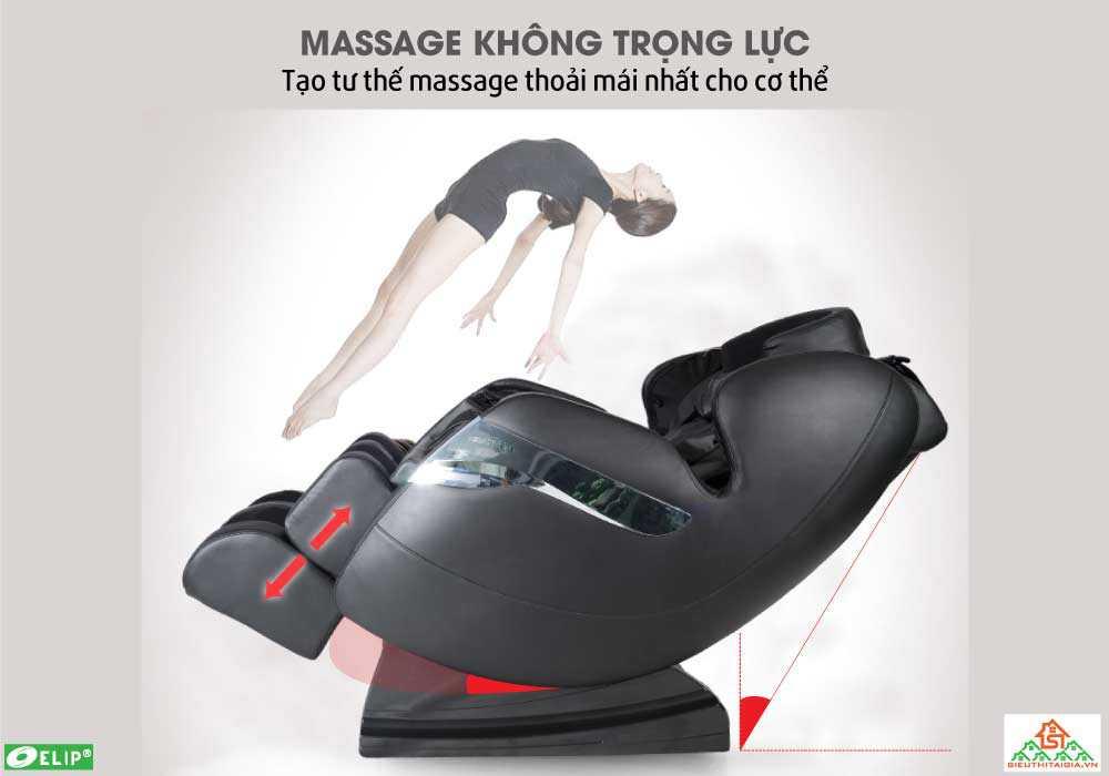 Massage khong trong luc voi Ghe massage Elip Newton