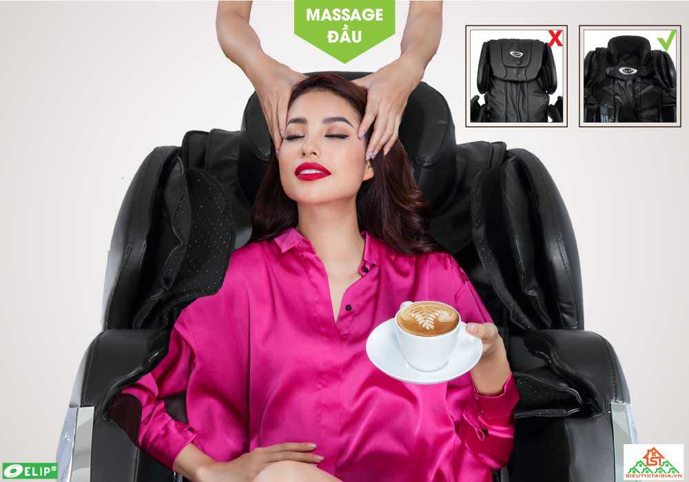 Massage dau cua Ghe massage Elip Newton