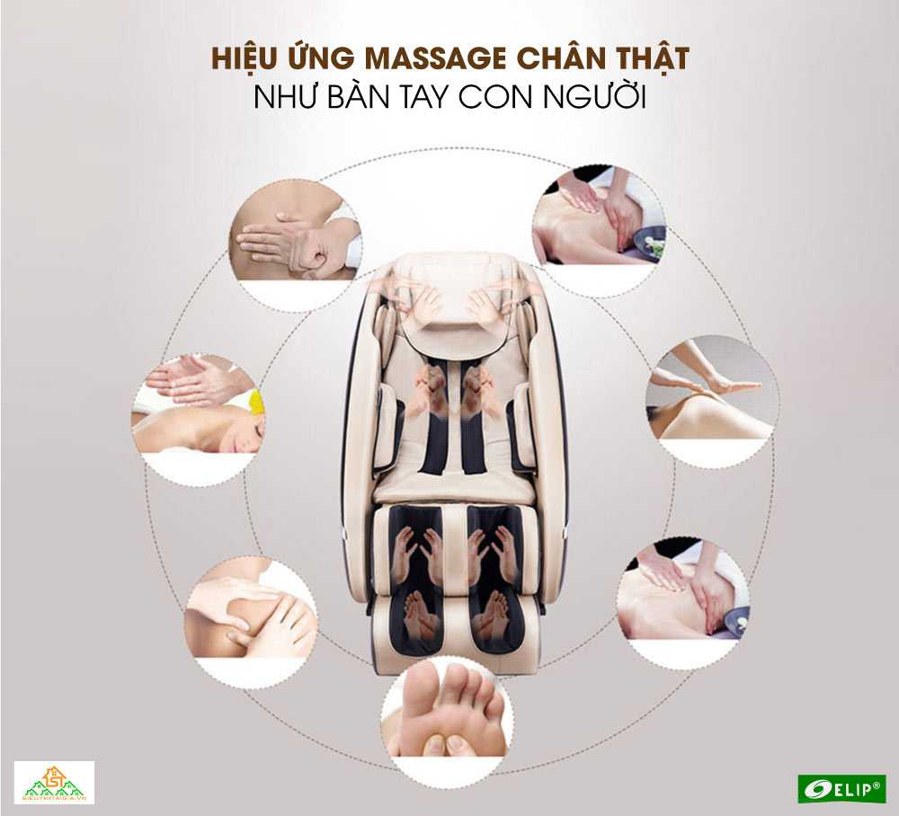 Hieu ung massage cua Ghe massage Elip Nobel