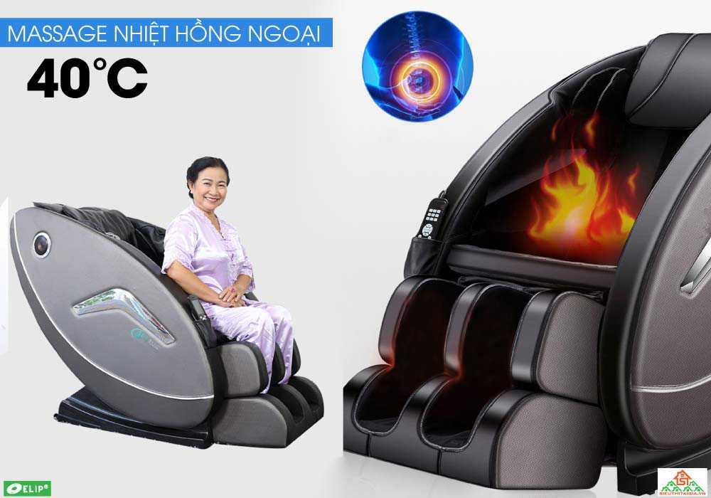 massage nhiet hong ngoại voi Ghe massage Elip Rhodi