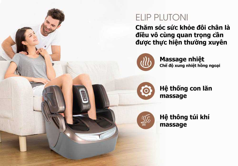 Máy massage chân Elip Plutoni  - ảnh 1