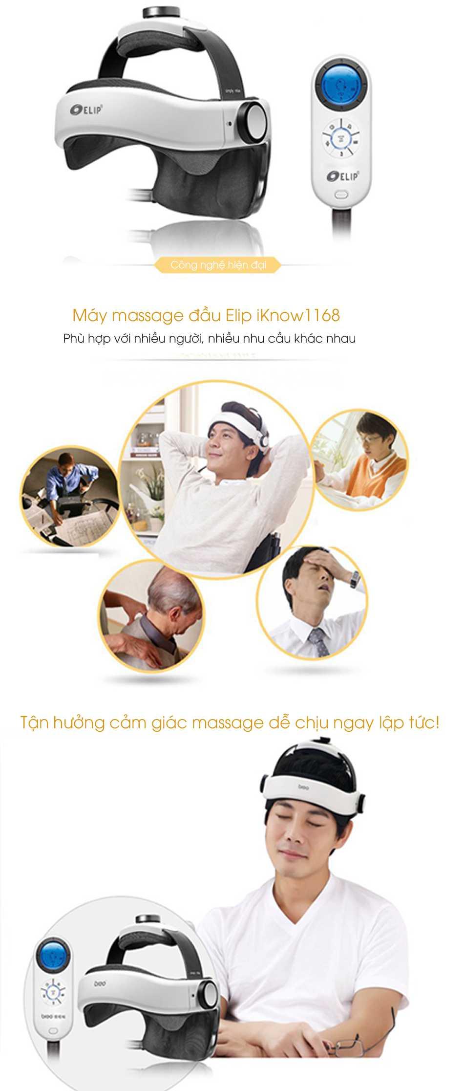Máy massage đầu Elip iKnow1168