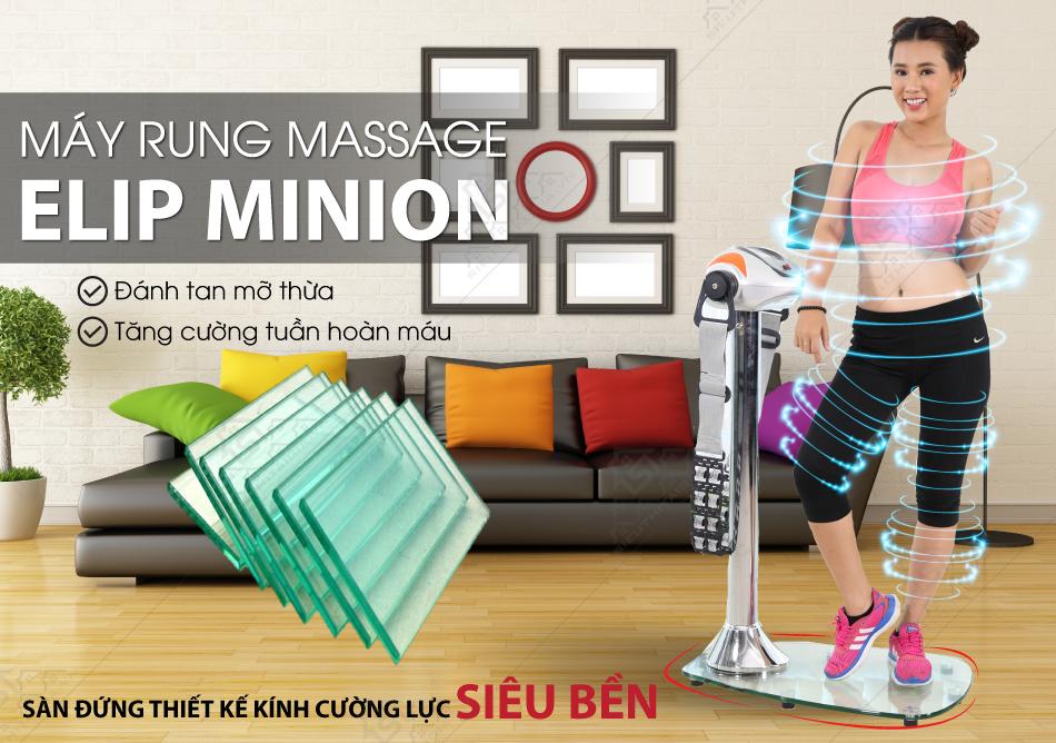 Máy rung massage bụng đứng Elip Minion - ảnh 1