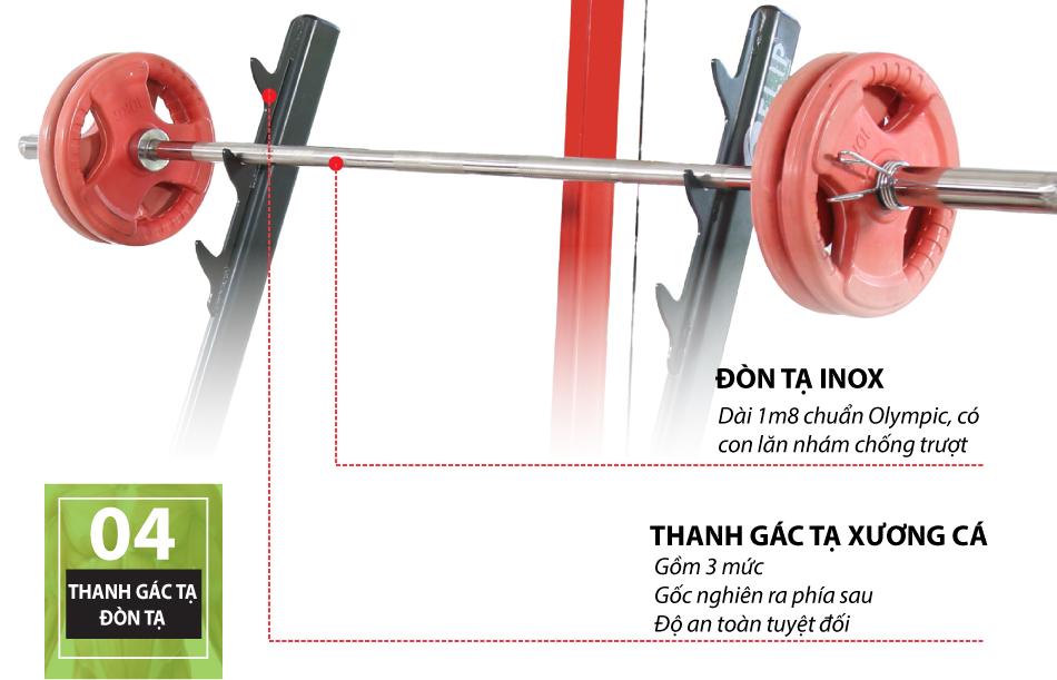 Ghế tạ đa năng Elip Power Max 9in1 - 40kg Tạ + Đòn Tạ - ảnh 2