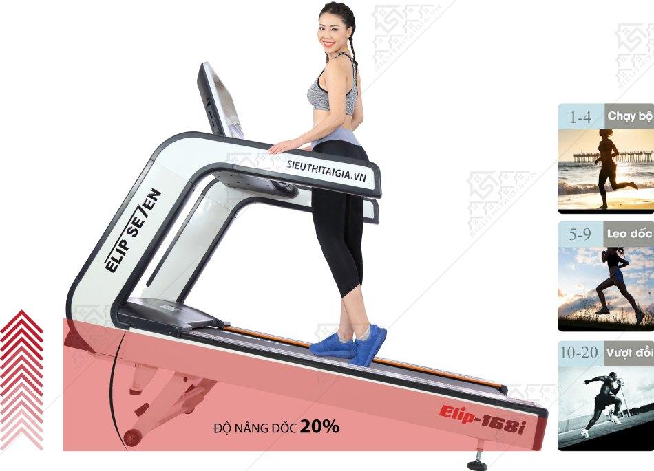 Máy chạy bộ điện Gym Elip Se7en - Thanh lý