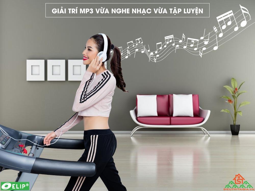 Máy chạy bộ điện Elip Oscar tích hợp nghe nhạc mp3