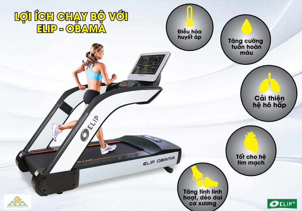 lợi ích từ Máy chạy bộ Phòng Gym Elip OBAMA