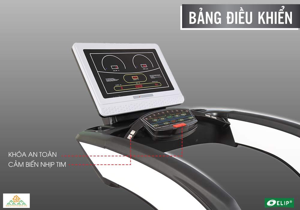 bảng điều khiển Máy chạy bộ Phòng Gym Elip OBAMA