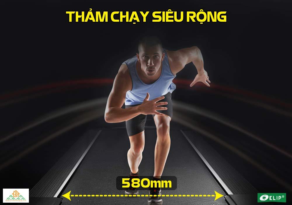 thảm chạy Máy chạy bộ Phòng Gym Elip OBAMA rộng