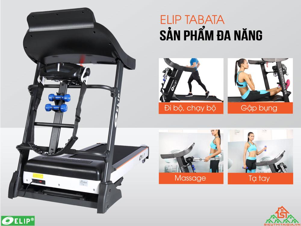 Máy chạy bộ điện Elip Tabata đa năng