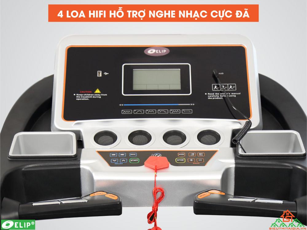 loa wifi nghe nhạc của Máy chạy bộ điện Elip Tabata