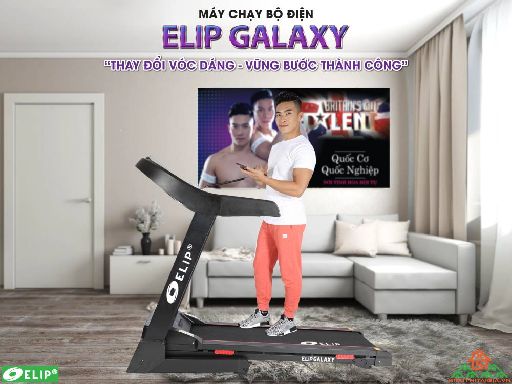 Máy chạy bộ điện Elip Galaxy