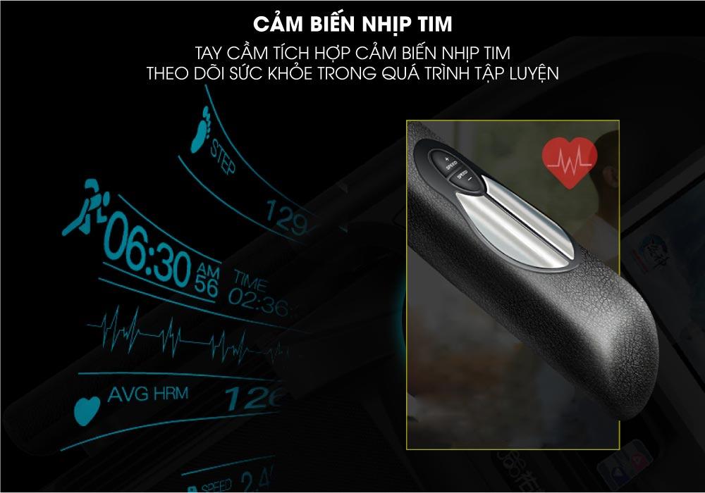 cảm biến nhịp tim Máy chạy bộ điện Elip Galaxy