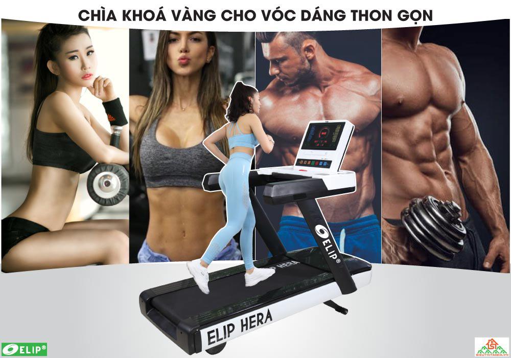 Máy chạy bộ điện Gym Elip Hera - ảnh 2