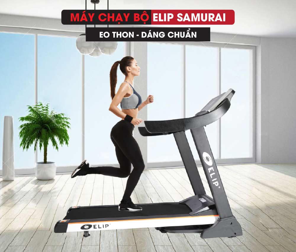 Quốc cơ- quốc nghiệp sử dụng máy chạy bộ điện Elip Samurai