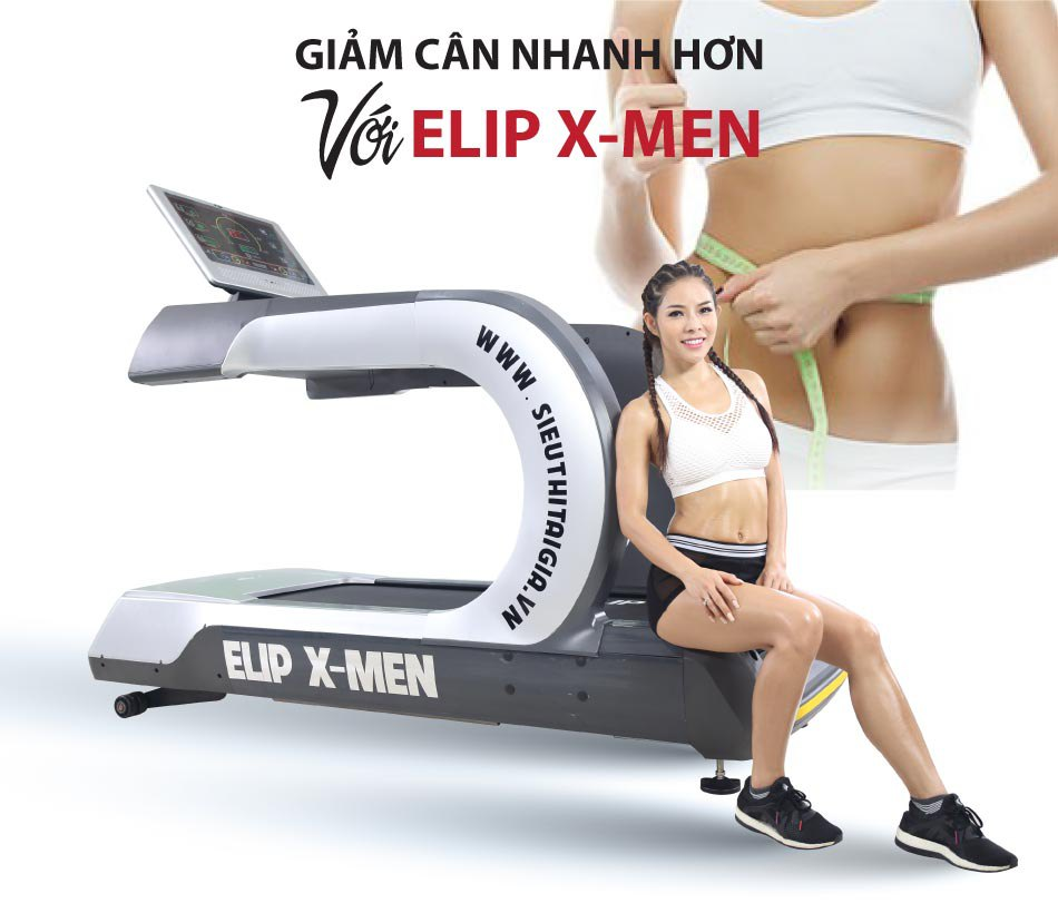giảm cân với Máy chạy bộ điện Gym Elip X-Men