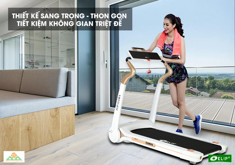 Phạm Hương tin dùng Máy chạy bộ điện Elip Flora