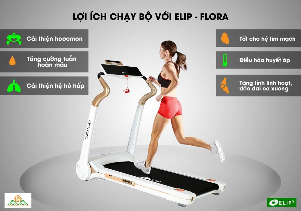 lợi ích Máy chạy bộ Elip Flora