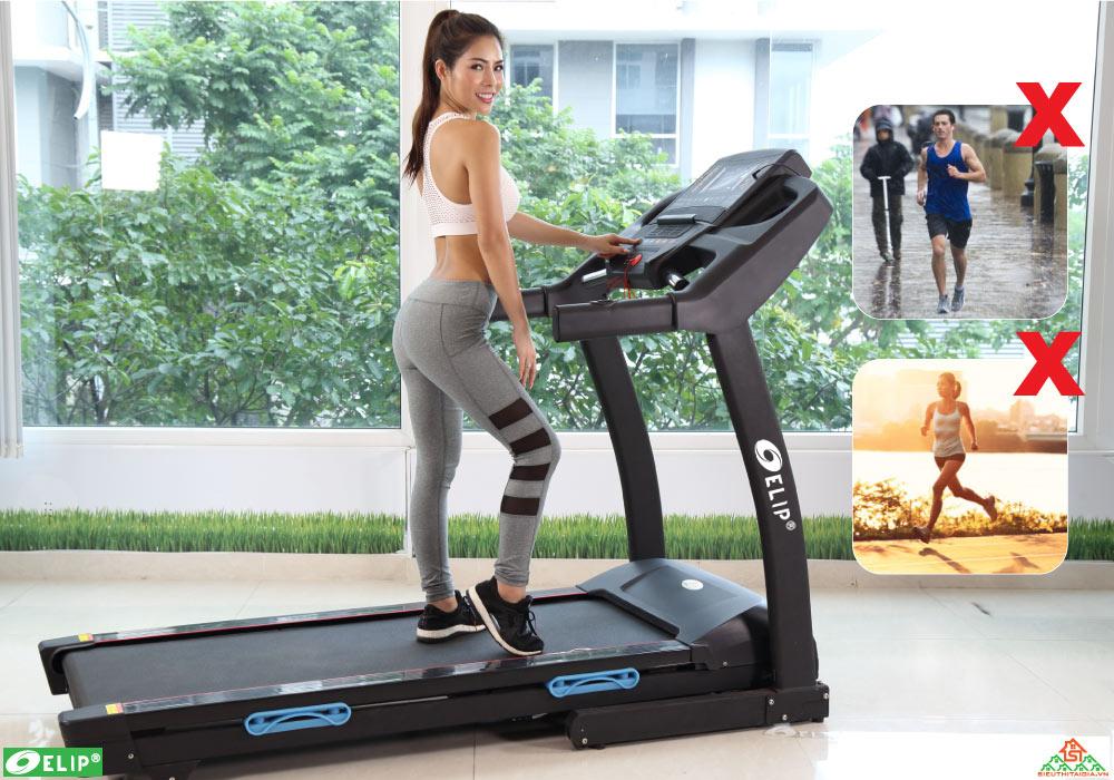Máy chạy bộ điện Elip 2017 AC phòng gym