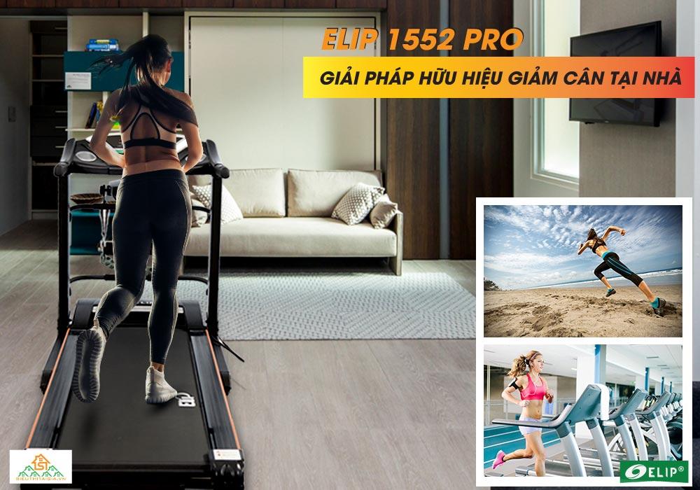 Máy chạy bộ điện đa năng Elip 1552 Pro giảm cân tại nhà