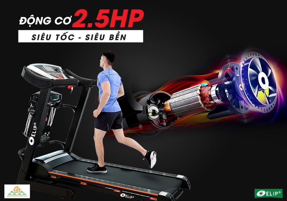 động cơ Máy chạy bộ điện đa năng Elip 1552 Pro