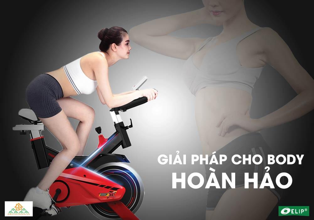giảm cân với Xe đạp tập Elip X