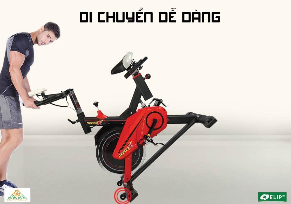 Xe đạp tập thể thao Elip X  di chuyển dễ dàng