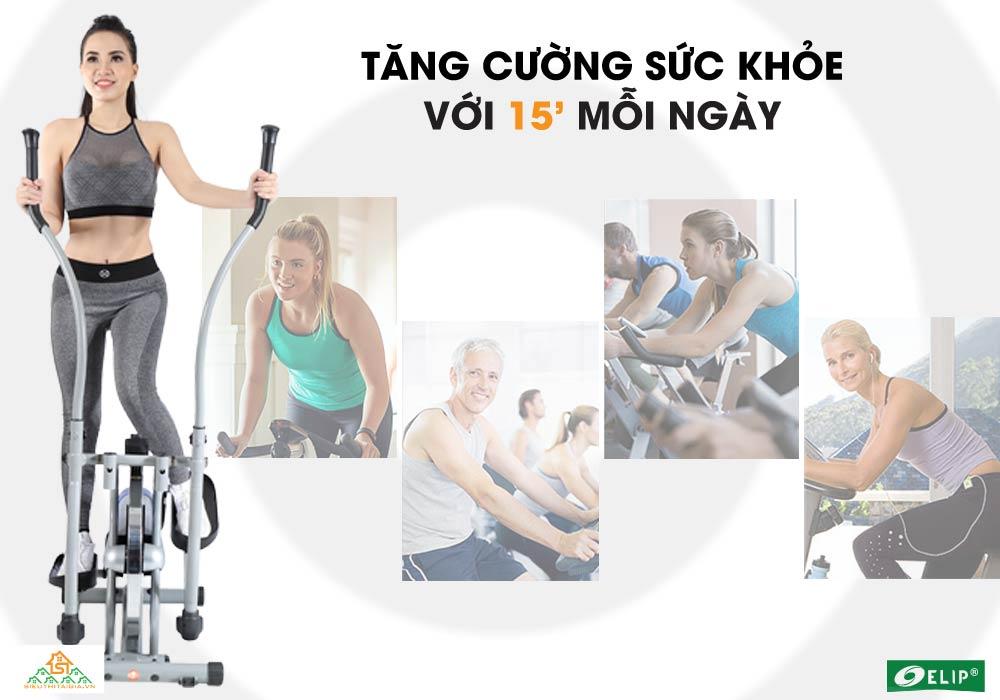 tăng cường sức khỏe Xe đạp tập tổng hợp Elip Ver 1