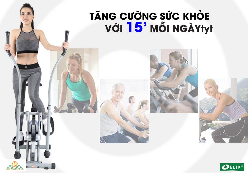 luyện tập với Xe đạp tập Elip Ver 2 tại nhà