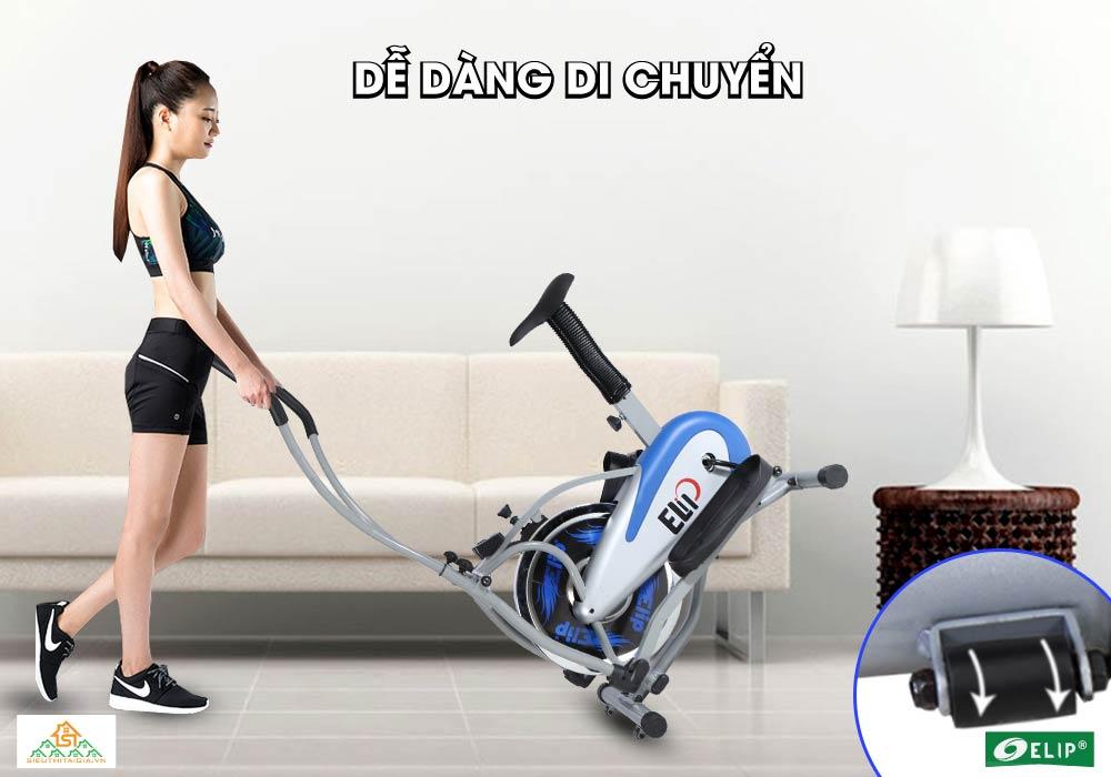 Xe đạp tập thể dục Elip Ver 2 dễ dang di chuyển