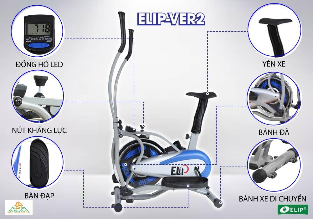 tính năng Xe đạp tập thể thao Elip Ver 2