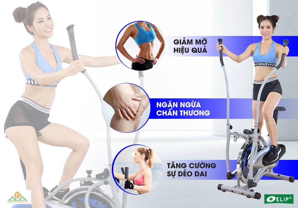 giảm cân Xe đạp tập Elip Ver 2