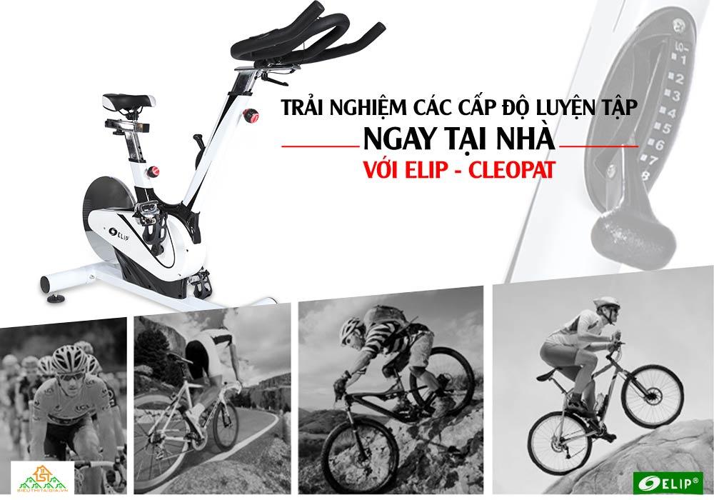 Xe đạp tập thể thao tại nhà Elip Cleopat