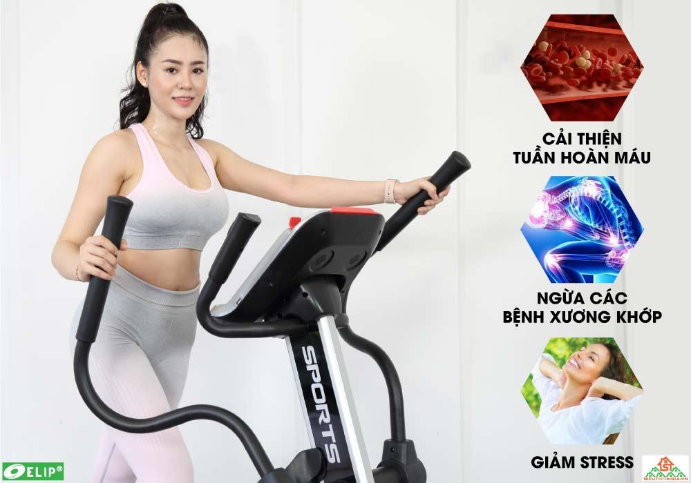 Xe đạp tập Elip Everest cho phòng gym