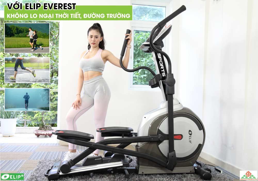Xe đạp tập Elip Everest tập luyện tại nhà